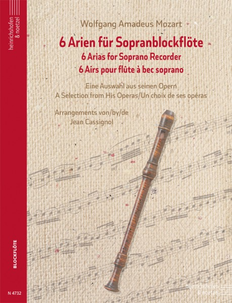 6 Arien für Sopranblockflöte