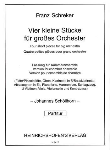 4 kleine Stücke für großes Orchester