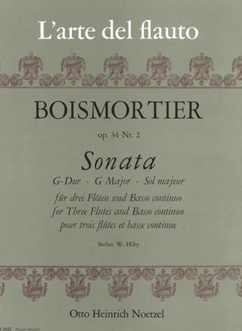 Sonata G-Dur für 3 Flöten und B.c.