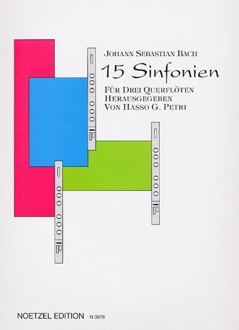 15 Sinfonien für 3 Querflöten
