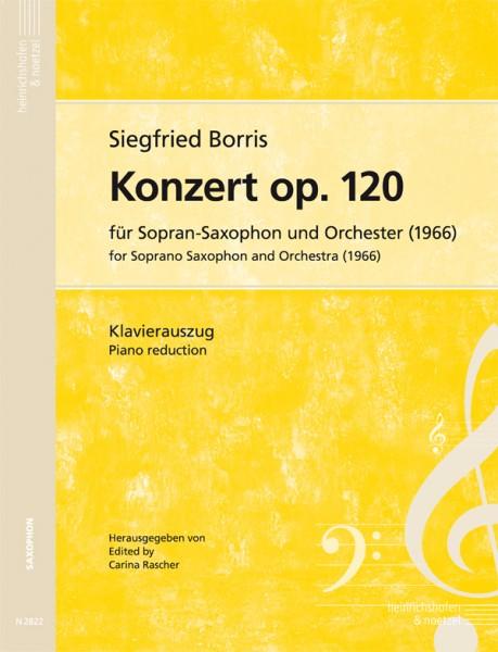 Konzert op. 120 für Sopran-Saxophon und Orchester (Klavierauszug)
