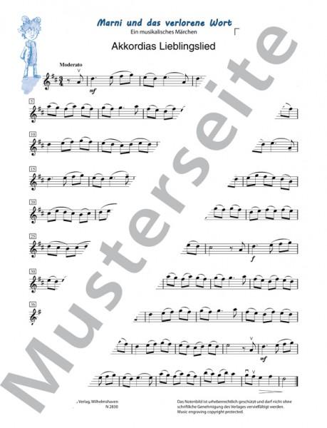 Marni und das verlorene Wort (Violine I)
