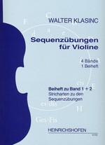 Sequenzübungen für Violine, Beiheft zu Bd 1 + 2