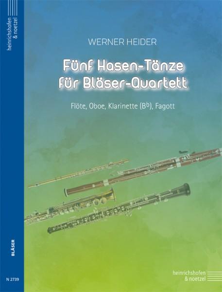 Fünf Hasen-Tänze für Bläser-Quartett