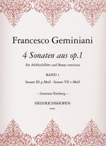 4 Sonaten, Bd 1